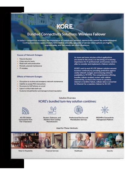 Data Sheet - KORE's Wireless Failover Bundled Connectivity Solutions