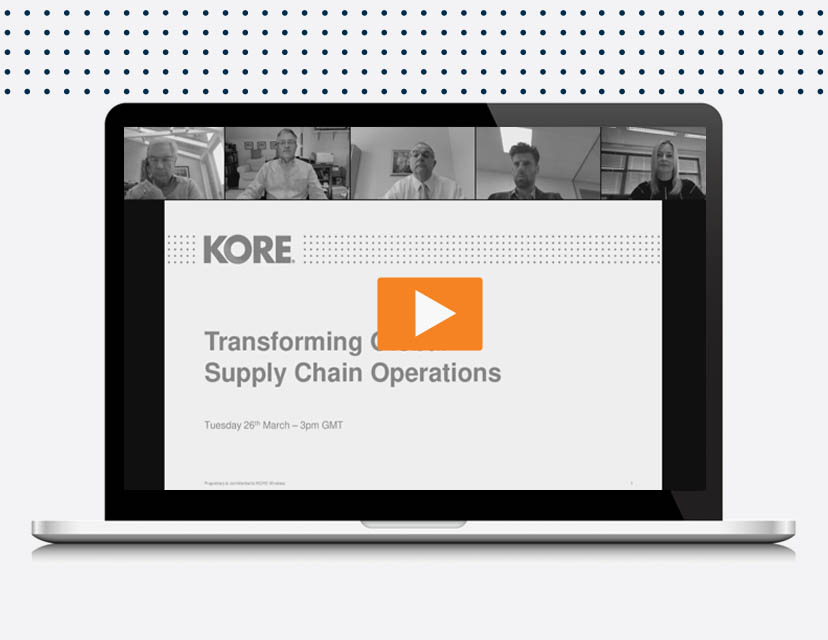 In this webinar, learn more about how IoT is transforming supply chain operations.